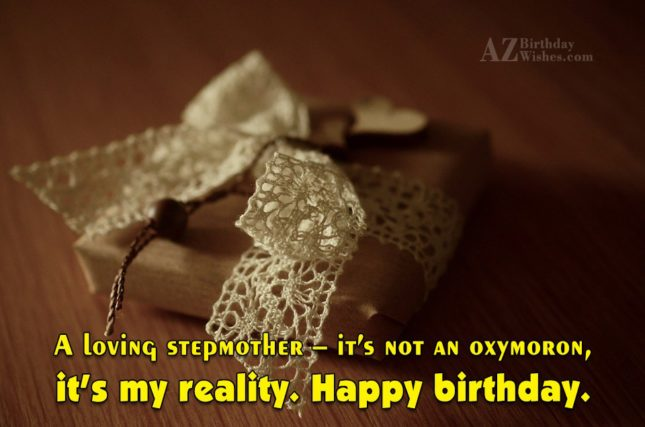 A loving stepmother – it's not an… - AZBirthdayWishes.com