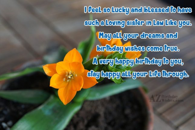 I feel so lucky and blessed to… - AZBirthdayWishes.com