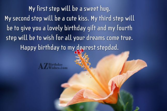 My first step will be a sweet… - AZBirthdayWishes.com