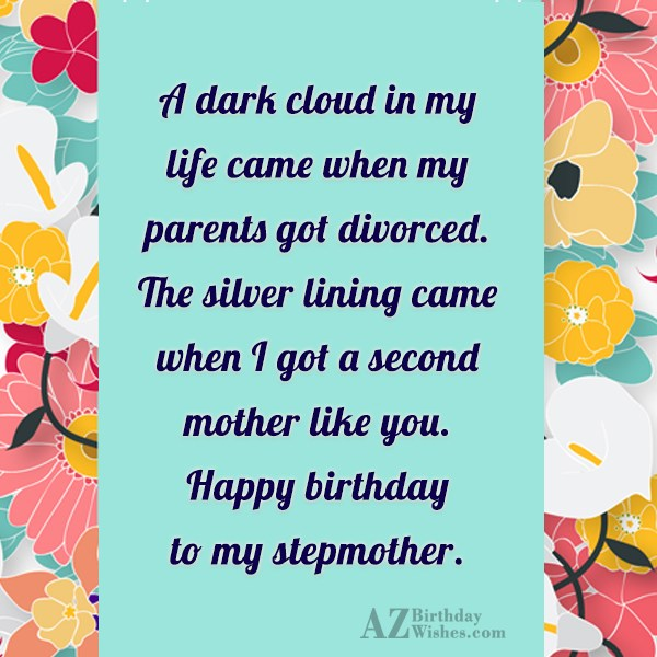 A dark cloud in my life came… - AZBirthdayWishes.com