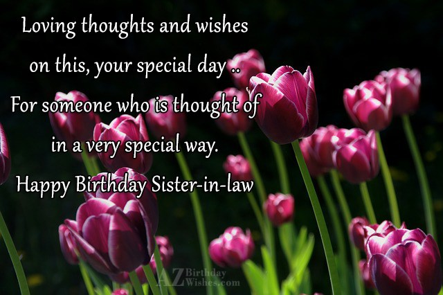 Loving thoughts and wisheson this, your special… - AZBirthdayWishes.com