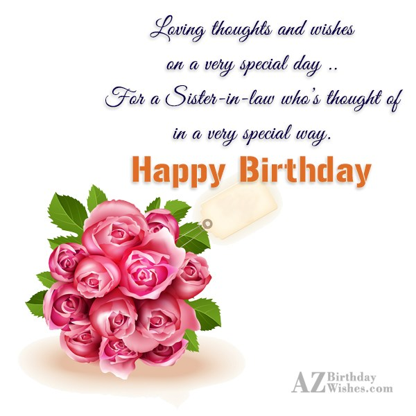 Loving thoughts and wisheson a very special… - AZBirthdayWishes.com