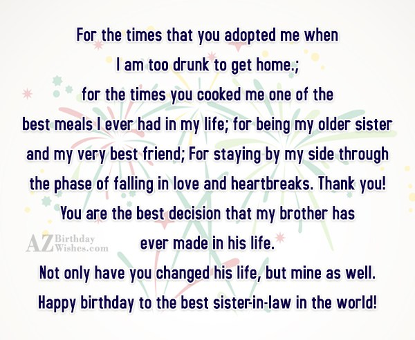For the times that you adopted me… - AZBirthdayWishes.com