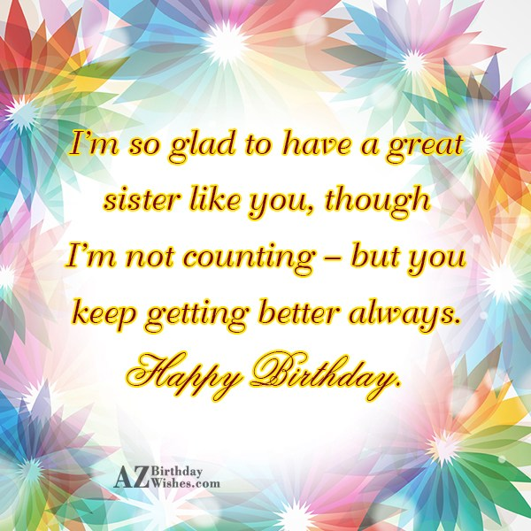 I'm so glad to have a great… - AZBirthdayWishes.com