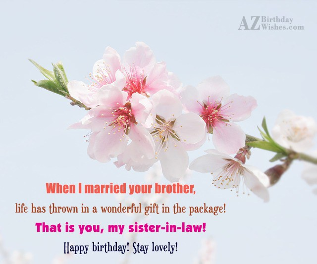 When I married your brother, life has… - AZBirthdayWishes.com