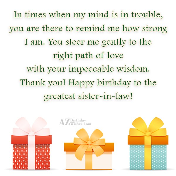 In times when my mind is in… - AZBirthdayWishes.com