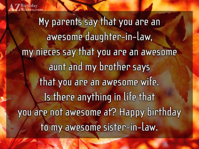 My parents say that you are an… - AZBirthdayWishes.com