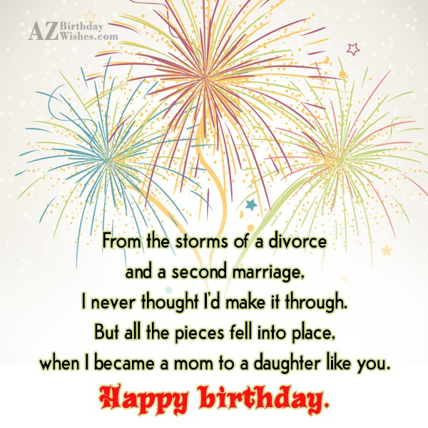 From the storms of a divorce and a second… - AZBirthdayWishes.com