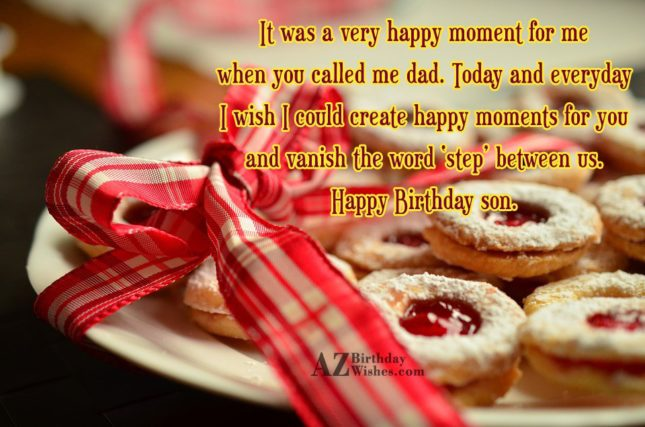 It was a very happy moment for… - AZBirthdayWishes.com