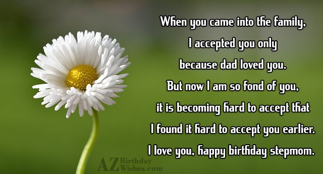 When you came into the family, I… - AZBirthdayWishes.com