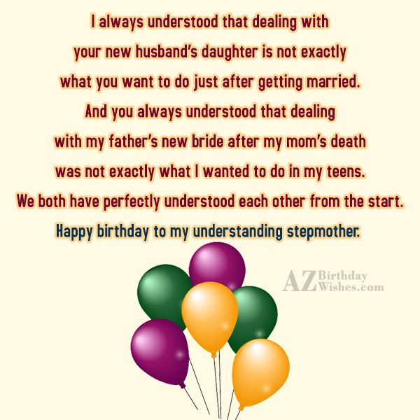 I always understood that dealing with your… - AZBirthdayWishes.com