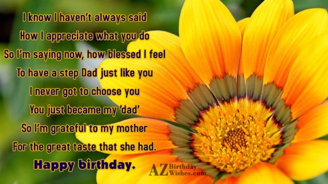 I know I haven't always saidHow I… - AZBirthdayWishes.com