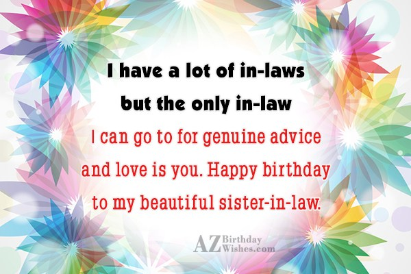 I have a lot of in-laws but… - AZBirthdayWishes.com