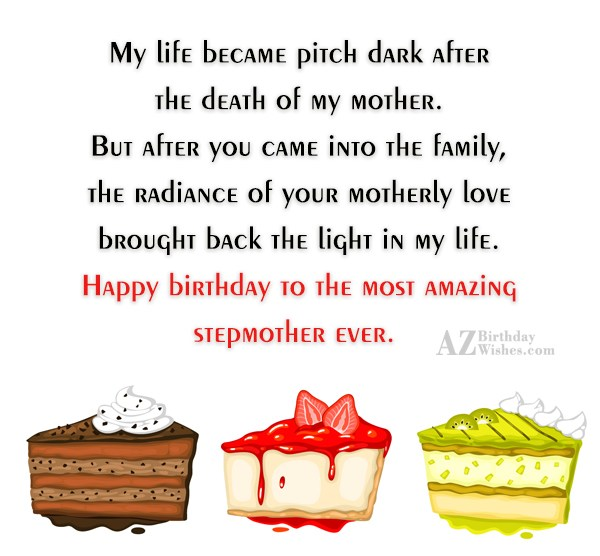 My life became pitch dark after the… - AZBirthdayWishes.com