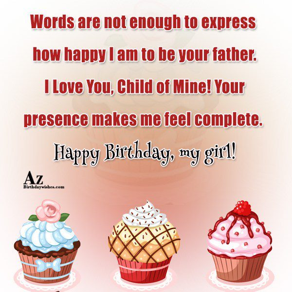 Words are not enough to express how happy I… - AZBirthdayWishes.com