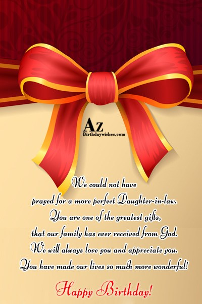 We could not have prayed for a more perfect… - AZBirthdayWishes.com