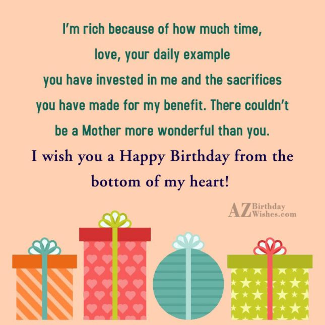 I'm rich because of how much time,… - AZBirthdayWishes.com