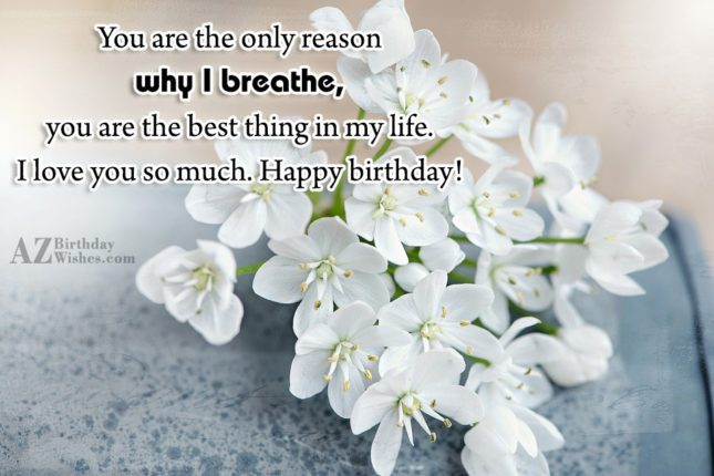 You are the only reason why I… - AZBirthdayWishes.com