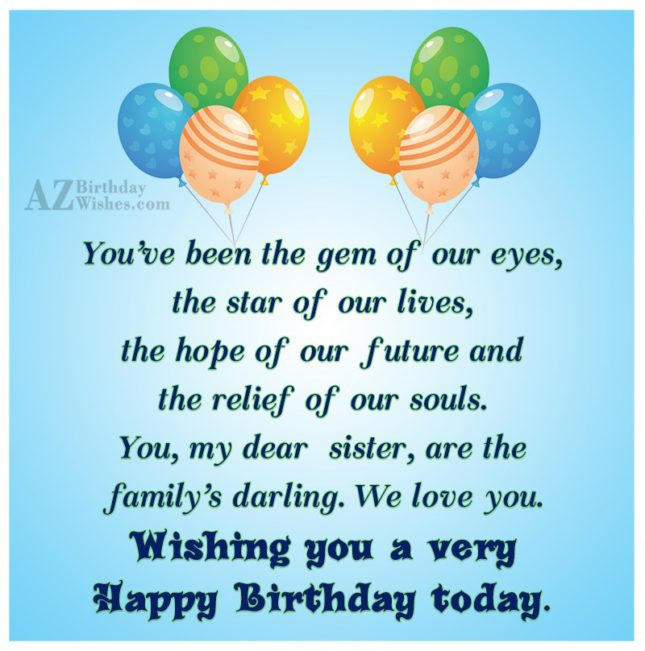 You've been the gem of our eyes,… - AZBirthdayWishes.com