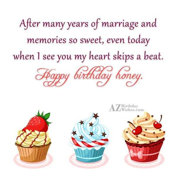 After many years of marriage and memories… - AZBirthdayWishes.com