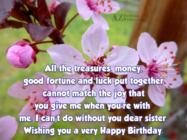 All the treasures, money, good fortune and… - AZBirthdayWishes.com