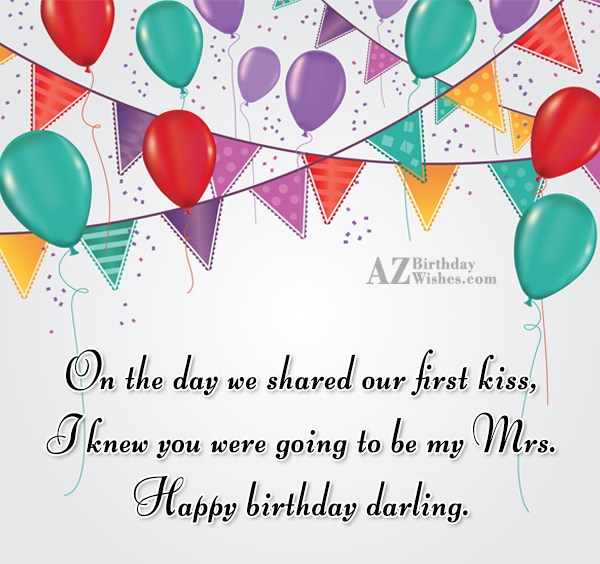 On the day we shared our first… - AZBirthdayWishes.com