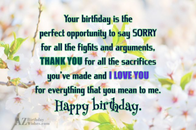 Your birthday is the perfect opportunity to… - AZBirthdayWishes.com