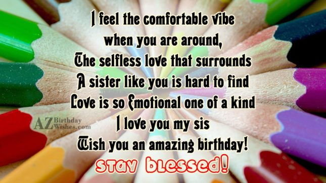 I feel the comfortable vibe when you… - AZBirthdayWishes.com