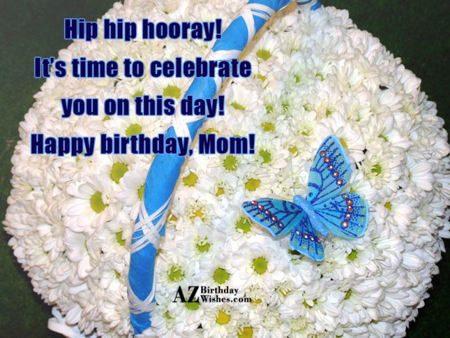 Hip hip hooray! It's time to celebrate… - AZBirthdayWishes.com