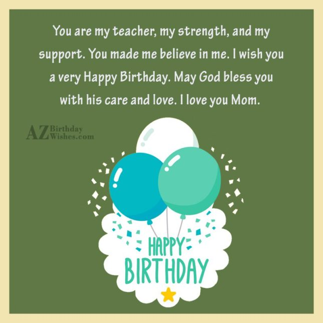 You are my teacher, my strength, and… - AZBirthdayWishes.com
