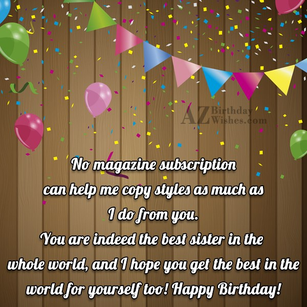 No magazine subscription can help me copy… - AZBirthdayWishes.com