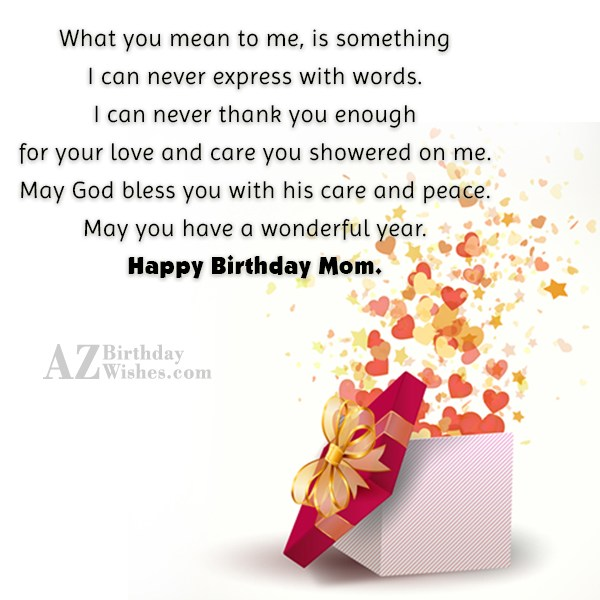 What you mean to me, is something… - AZBirthdayWishes.com