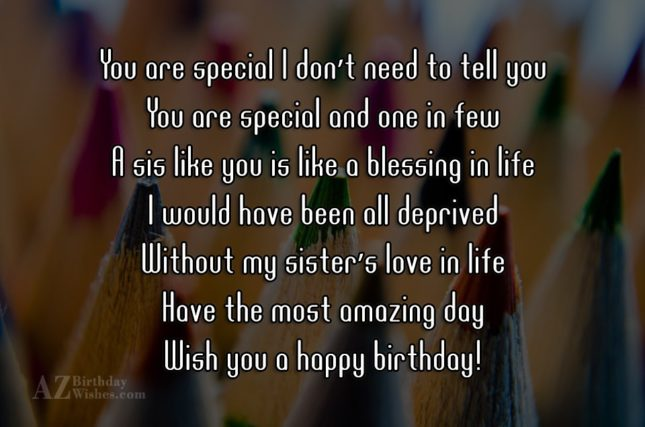 You are special I don't need to… - AZBirthdayWishes.com