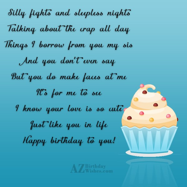 Silly fights and sleepless nightsTalking about the… - AZBirthdayWishes.com