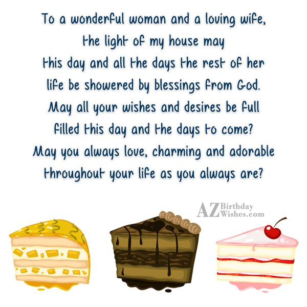 To a wonderful woman and a loving… - AZBirthdayWishes.com