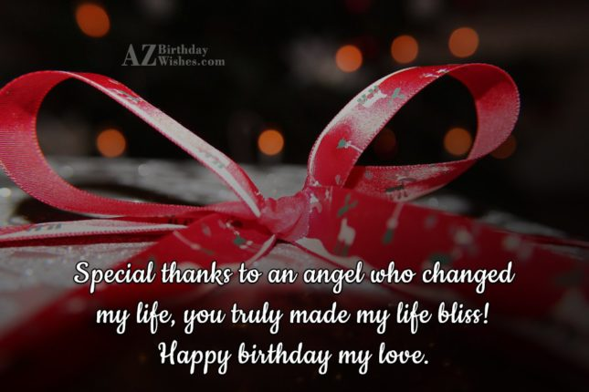 Special thanks to an angel who changed… - AZBirthdayWishes.com