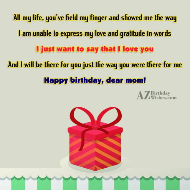 All my life, you've held my finger… - AZBirthdayWishes.com