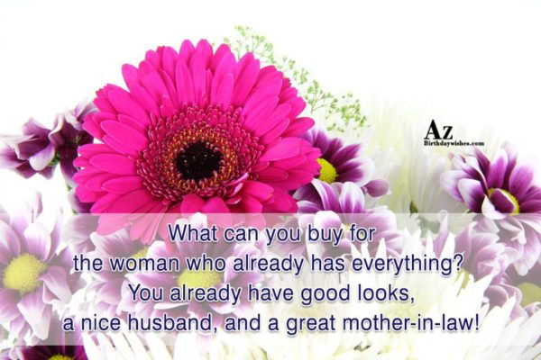 What can you buy for the woman who already… - AZBirthdayWishes.com