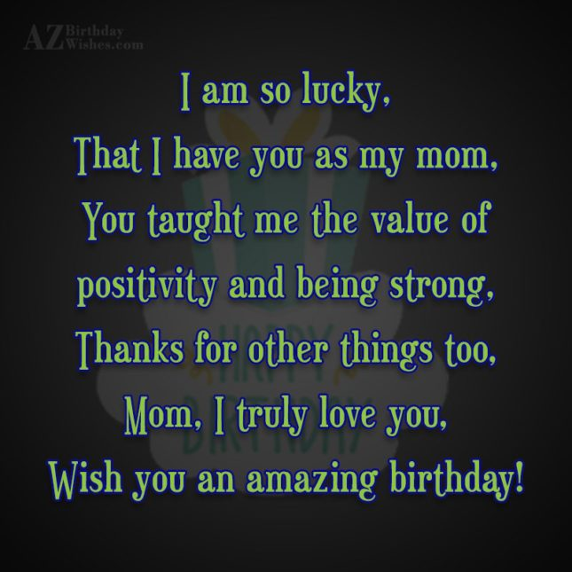 I am so lucky,That I have you… - AZBirthdayWishes.com