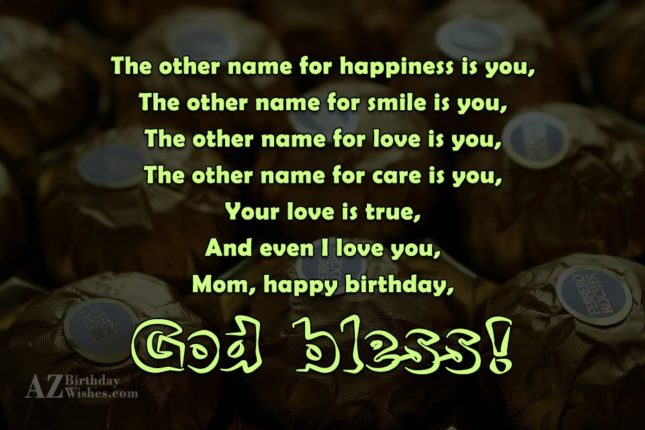 The other name for happiness is you,The… - AZBirthdayWishes.com