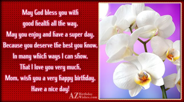 May God bless you with good health… - AZBirthdayWishes.com
