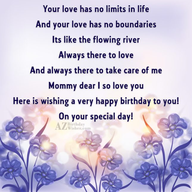 Your love has no limits in life… - AZBirthdayWishes.com
