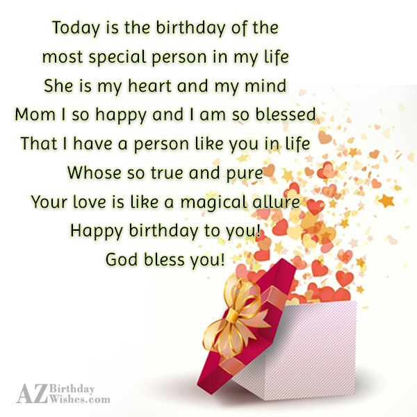 Today is the birthday of the most… - AZBirthdayWishes.com
