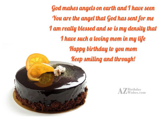 God makes angels on earth and I… - AZBirthdayWishes.com
