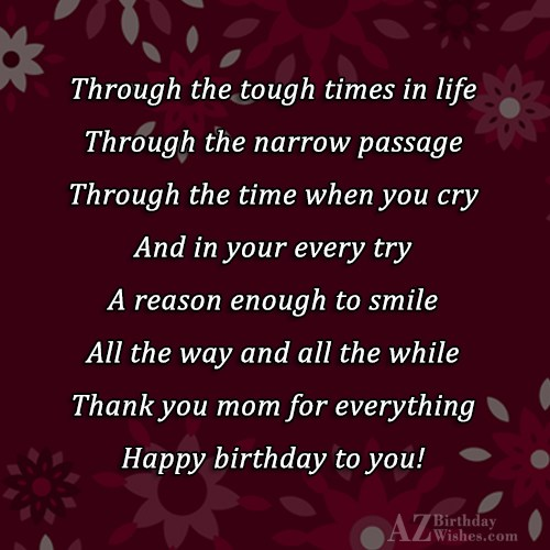 Through the tough times in life Through… - AZBirthdayWishes.com