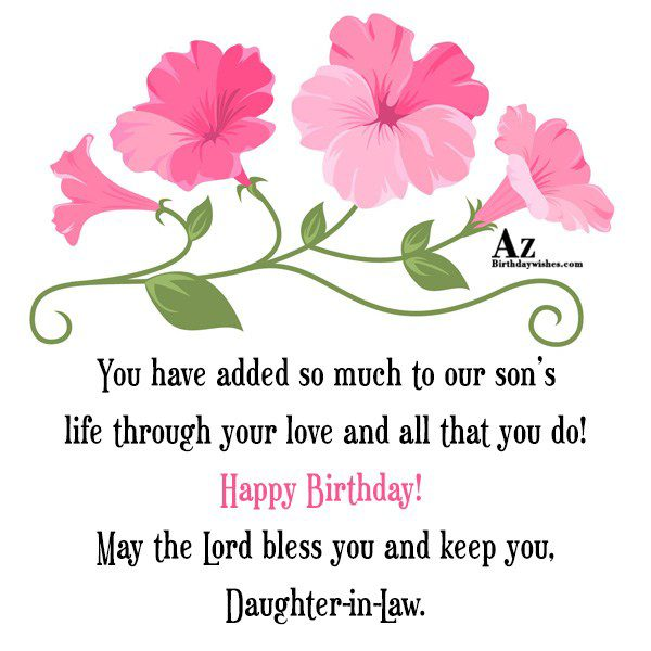 You have added so much to our son s… - AZBirthdayWishes.com