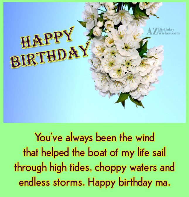 You've always been the wind that helped… - AZBirthdayWishes.com