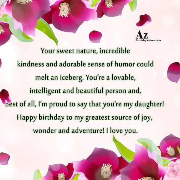 Your sweet nature incredible kindness and adorable sense of… - AZBirthdayWishes.com