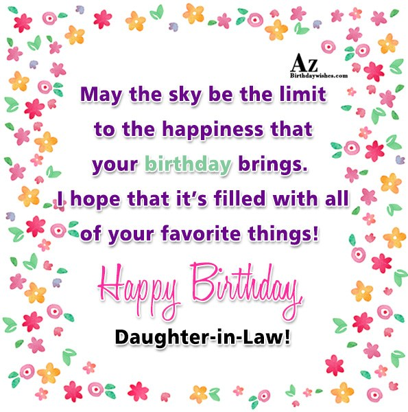 May the sky be the limit to the happiness… - AZBirthdayWishes.com