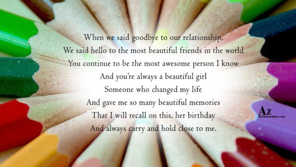 When we said goodbye to our relationship We said… - AZBirthdayWishes.com